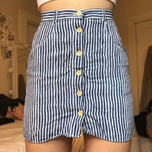 Urban Outfitters Cooperative Striped Skirt